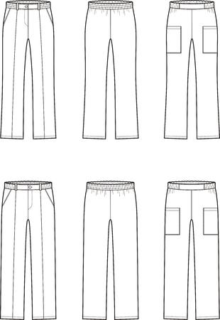 Men and womens medical pants