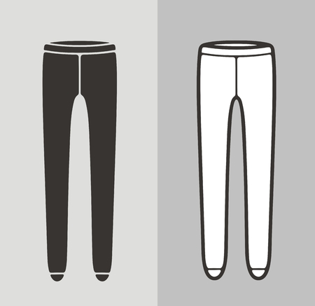 Vector illustration of womens pantyhose, clothes icon