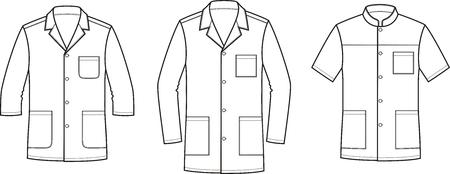 Men's medical jacket, work clothes vector illustration.
