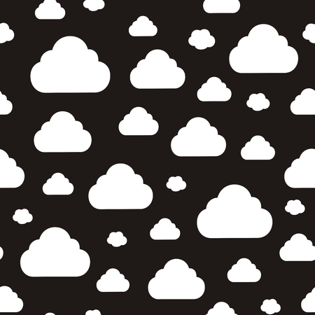 Vector illustration of seamless abstract pattern with clouds