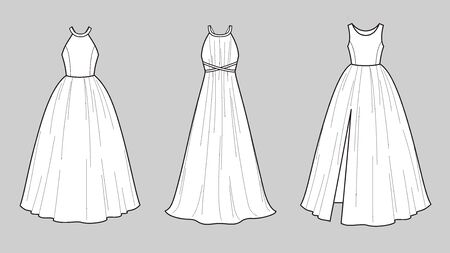 Vector illustration of wedding dress