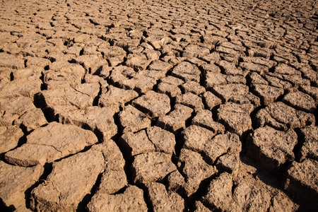 lack of water: lack of water land, Dry land of Thailand  This is called Sam-Pan-Boke the interesting area Dried earth because of rain dose not fall and the land lacked of water for agriculture  Stock Photo