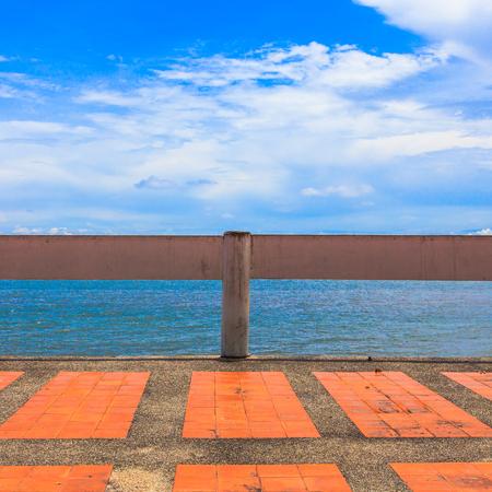 Coastline and blue sky