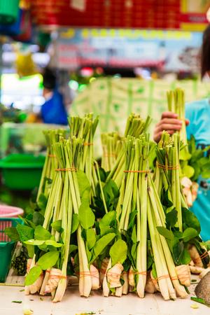 lemon grass in fresh market Stock Photo