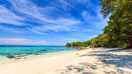 Beautiful Tropical sea and beach and blue sky
