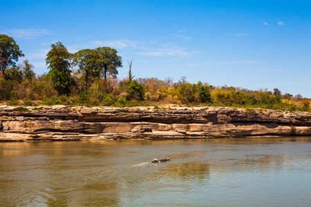 King river and dry land Stock Photo