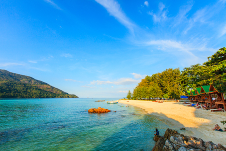 Beautiful tropical sea and black in Thailand