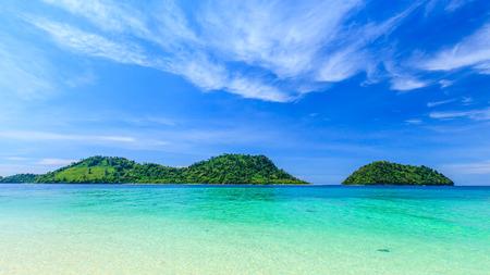beautiful tropical island and sea Stock Photo