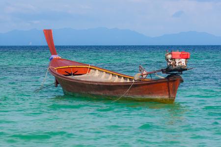 Fisherman boat float on sea