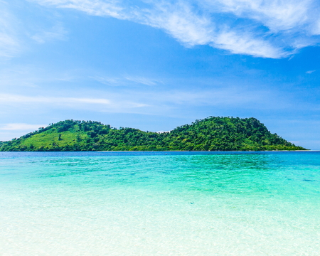Beautiful seascape and beach and island in Andaman sea of thailand