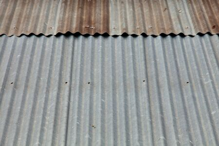 古い亜鉛屋根 写真素材