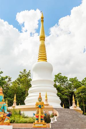 White buddhism pagoda Stock Photo