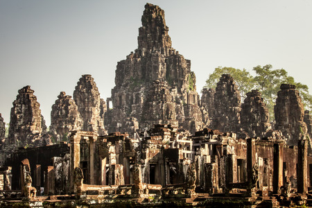 Ancient Bayon castle Stock Photo
