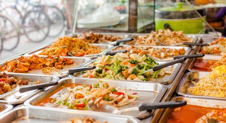 Stree food in bangkok, Thailand Stock Photo