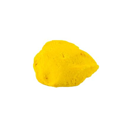 Yellow cracker cookie isolated on white background