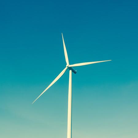 Wind turbine generatoron blue sky Stok Fotoğraf