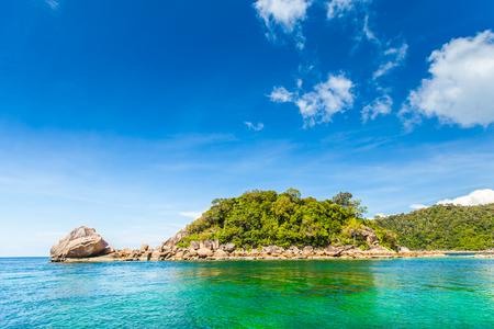 Beautiful tropical sea island and blue sky Stock Photo