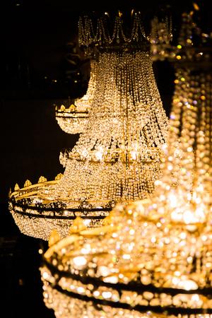 Chandelier lamp close up Banco de Imagens