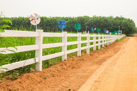 Farm white fence