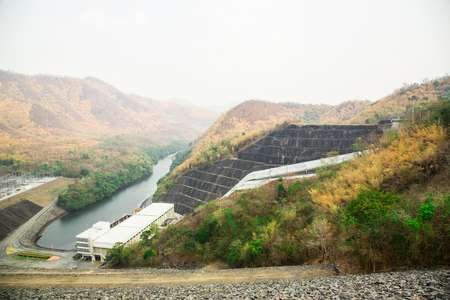 Dam resevior in Thailand Stock Photo