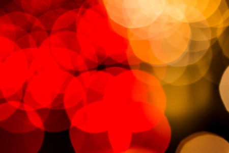 Abstract blur traffic light background Stock Photo