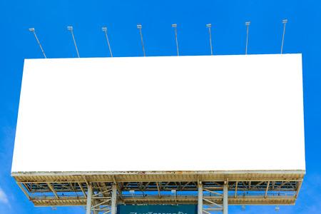 Blank billboard for new ad veritiesment
