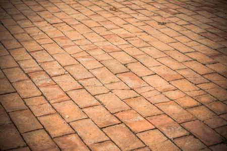 Walk or floor brick pattern background