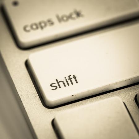 Close up shift key