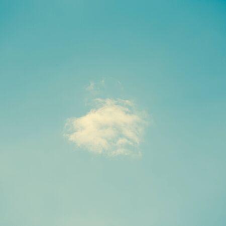 Retro clouds and blue sky