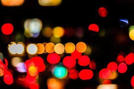 Abstract blur city night light