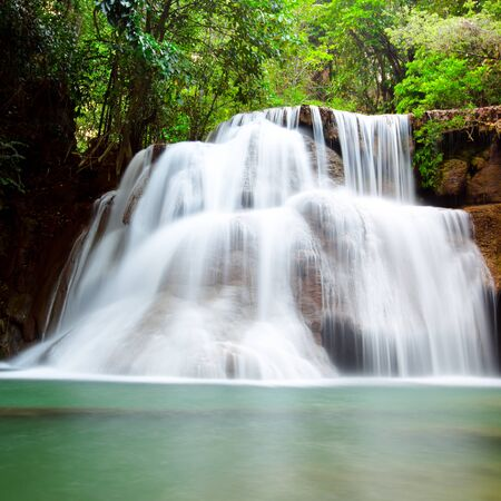 Beautiful waterfall in deep forest Imagens - 134525068