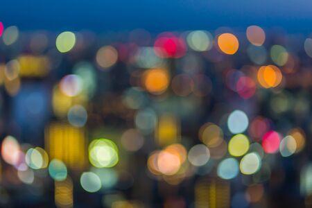 Veilleuse de ville flou abstrait