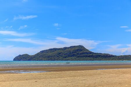 Hot summer tropical sand beach