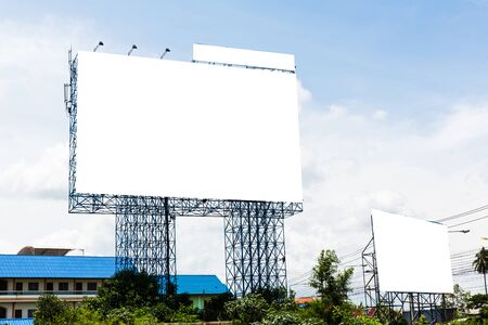 Blank billboard for new advertisement Imagens - 134525077
