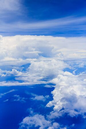 Blue sky and cloud background Imagens