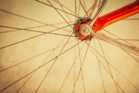 Retro bicycle wheel clsoe up