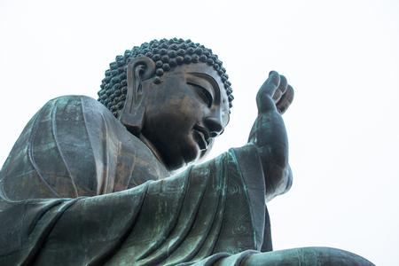 Big image of  buddha in Hong Kong Stockfoto