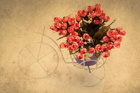 Bouquet of roses decor. retro filter