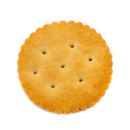 Circle biscuit on white background