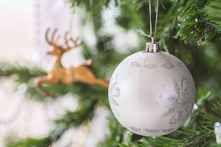 Christmas tree decor close up