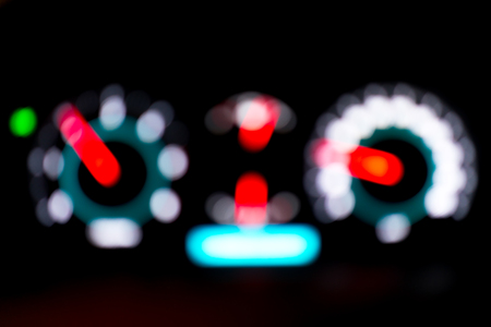 Abstract blur of car meter