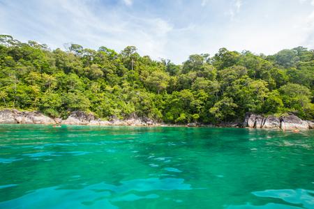 Tropical sea and island