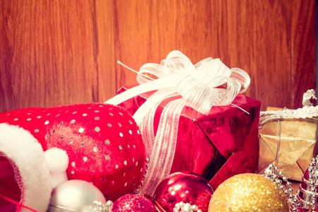 Christmas decor ornament. vintage filter Stock Photo