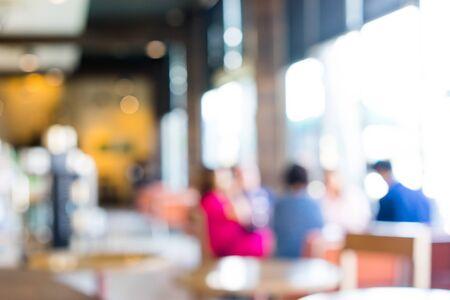 Blur coffee shop Imagens - 134525085