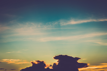 Retro clouds and sunset sky background