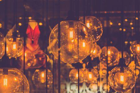 Retro edison light bulb decor