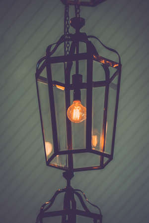 Retro edison light bulb decor