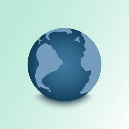 Vector cartoon flat globe illustration