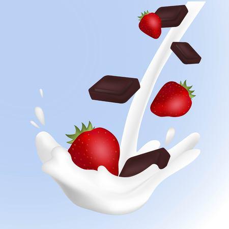 3D milk, yogurt cream splash