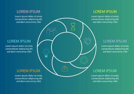 Circle diagram for business report or presentation. statistics.